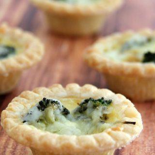 Broccoli and Cheddar Mini Quiches are a cheap dinner recipe that taste fantastic.
