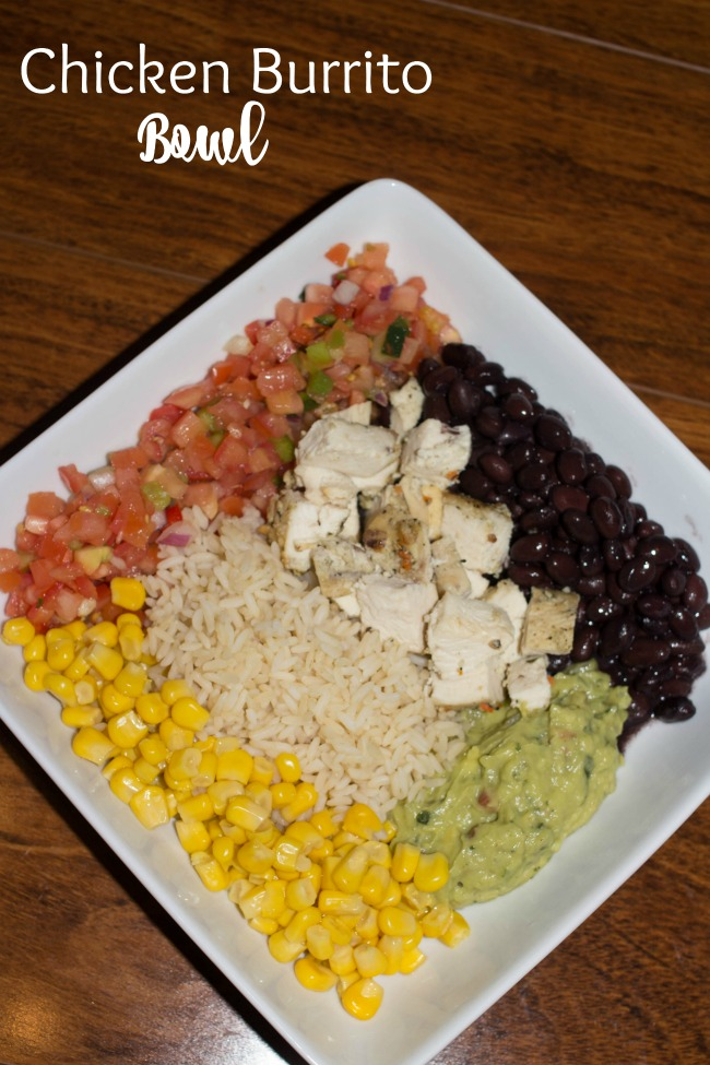 Ready for a healthy dinner? Try this chicken burrito bowl. All the flavors of a chicken burrito in a bowl. This is a Chipolte Copycat Healthy Dinner.