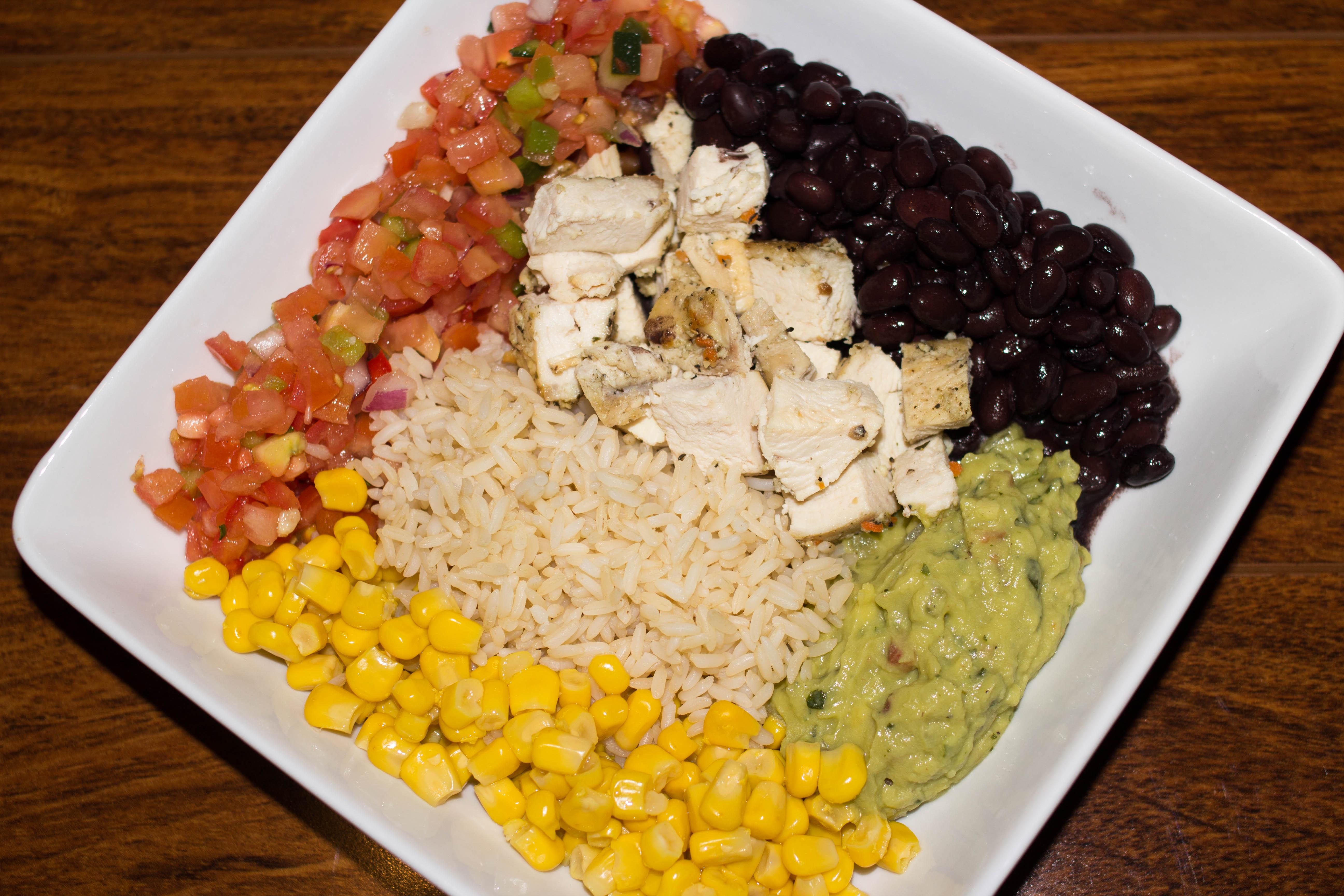 Chicken Burrito Bowl, all the flavors of a burrito in a tasty bowl