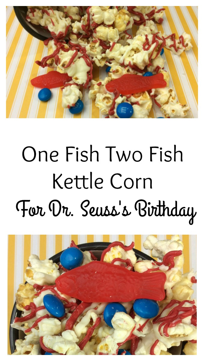 1 fish 2 fish, Red Fish, Blue Fish, if you know what that is, then Dr. Seuss would be proud. Here is a simple treat to celebrate Dr. Seuss's birthday