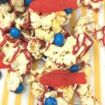popcorn snack with fish and mms