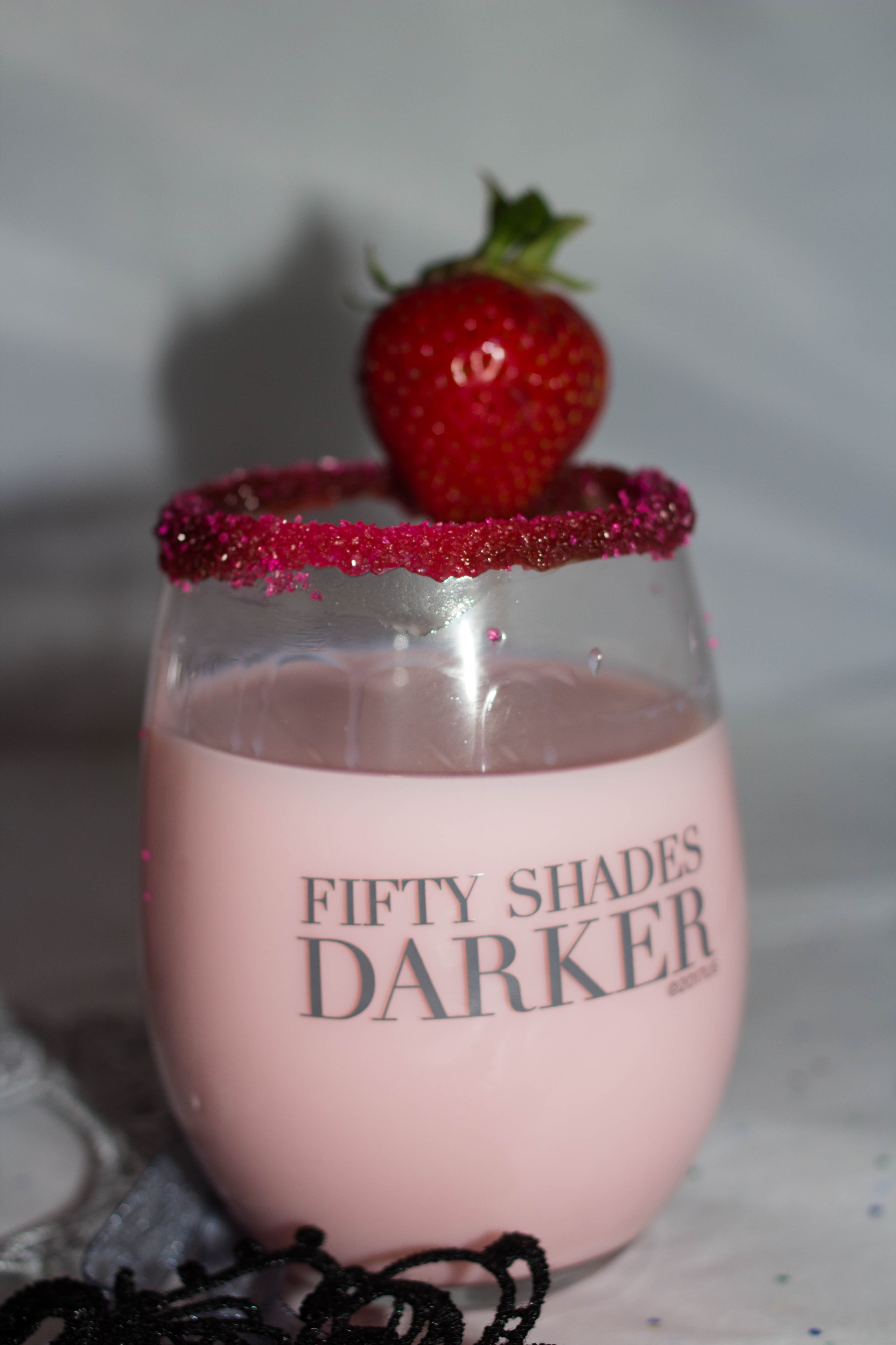 Indulge in a chocolate covered strawberry martini on your next girls night in. Get the girls together, watch Fifty Shades Darker and enjoy this sweet cocktail