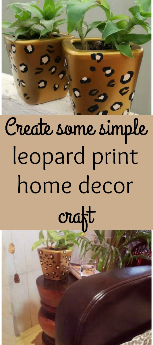 Feeling a little leopard print obsessed Why not bring some into your home with a simple leopard print home decor craft