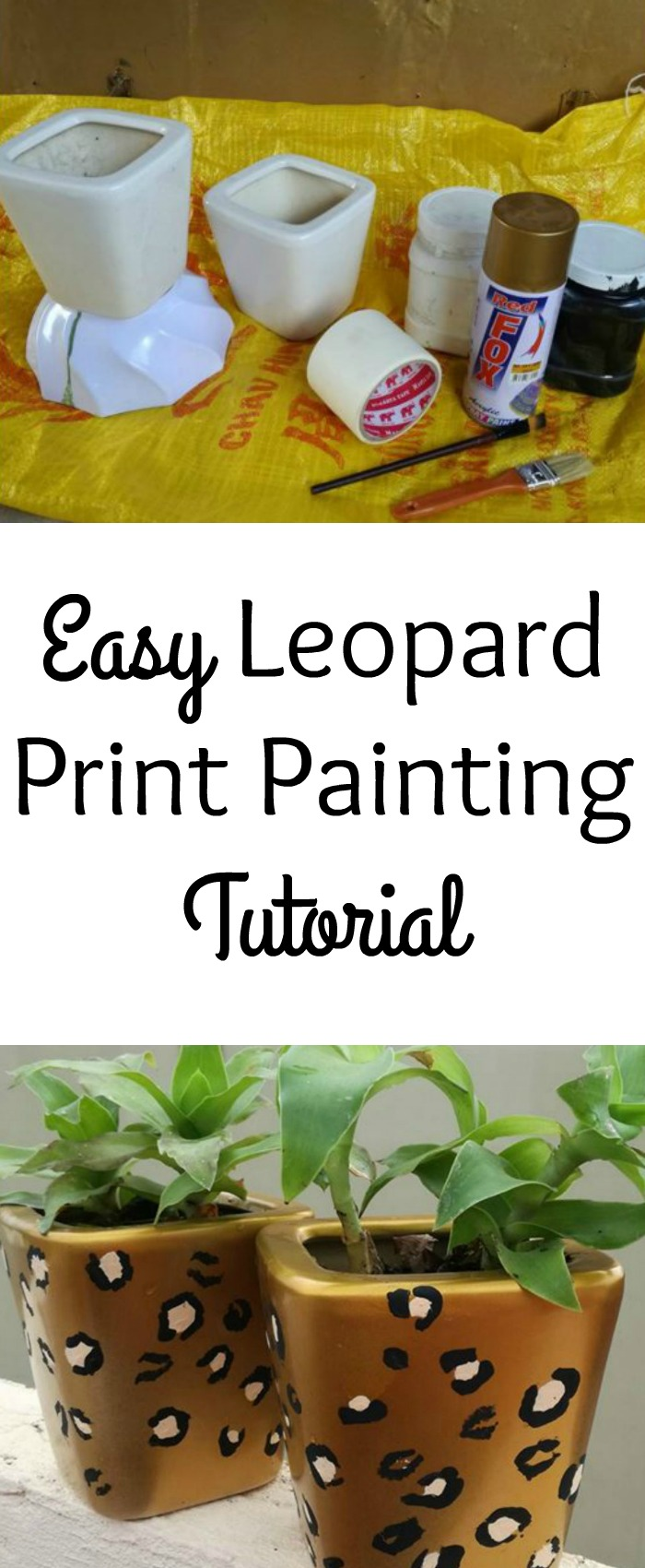Feeling a little leopard print obsessed? Why not bring some leopard print into your home with a simple leopard print home decor craft.