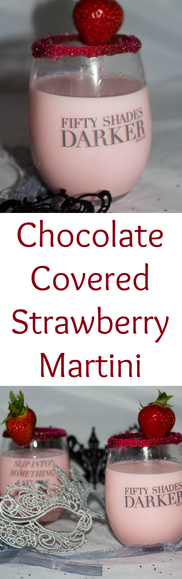 Indulge in a chocolate covered strawberry martini on your next girls night in. Get the girls together and enjoy this sweet cocktail