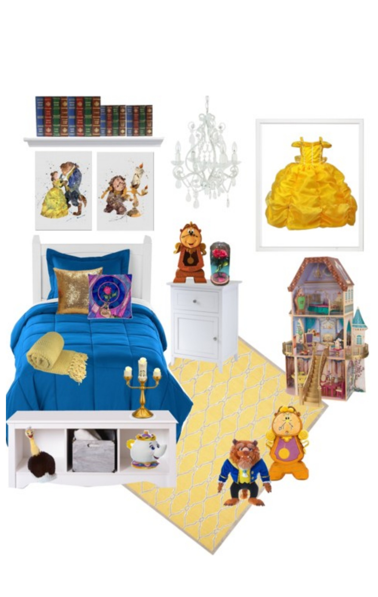 Create this Beauty and the Beast decor dream room full of Beauty and the Beast room decor that any princess would love to have as her own