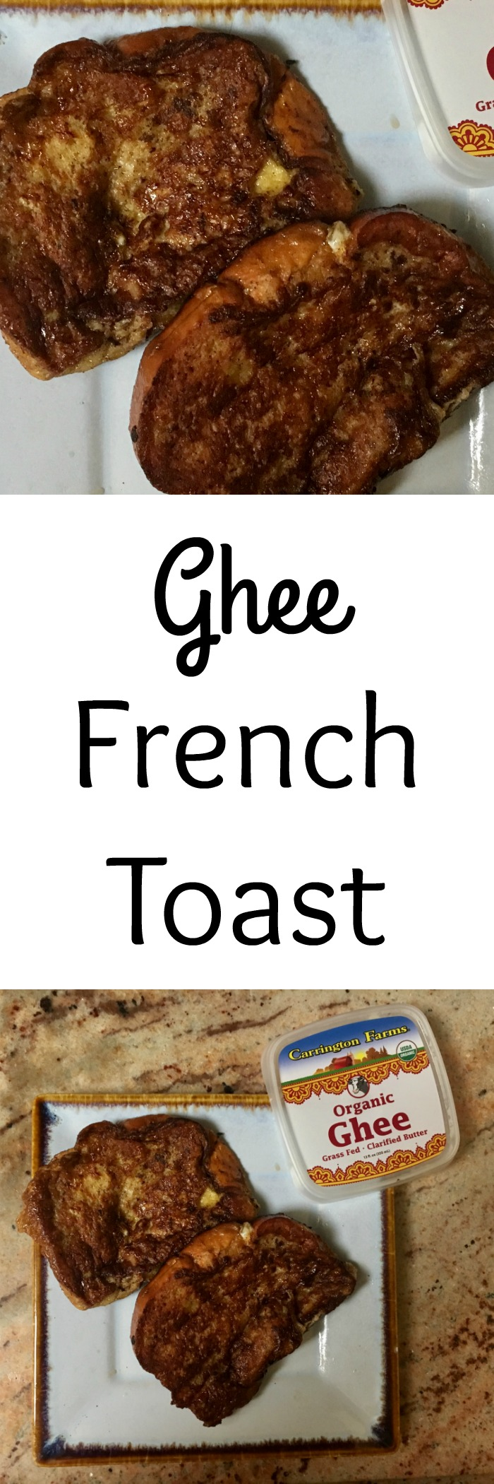 Looking for a different french toast recipe? This Ghee French Toast is such a delicious recipe to make for mom on Mother's Day
