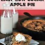 Easy Low Sugar Apple Pie