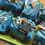 Looking for a fun cookie monster treat? These Cookie Monster Brownies are so tasty and kids will love them. Perfect for your Cookie Monster fan.