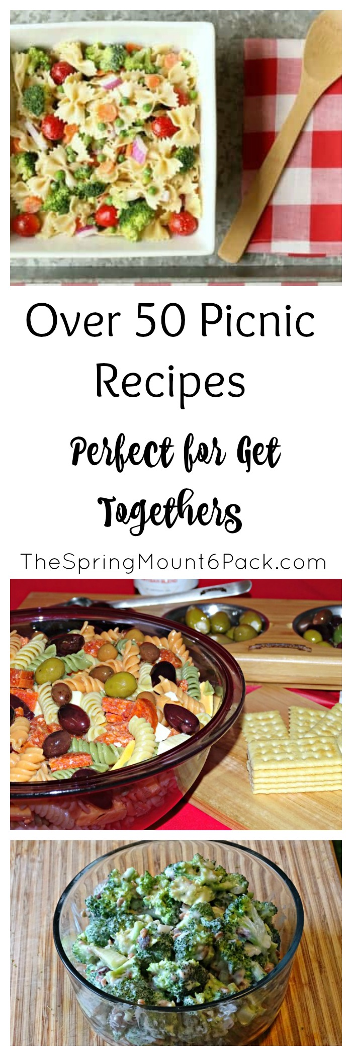 Looking for picnic recipes or a dish to take to a get together? These picnic recipes are perfect for pot luck dinners or a picnic.