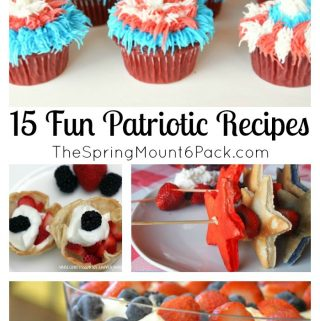 Summer is here and that means picnics for Memorial Day and 4th of July. What is better than Fun Patriotic Recipes that embrace the Red, White and Blue