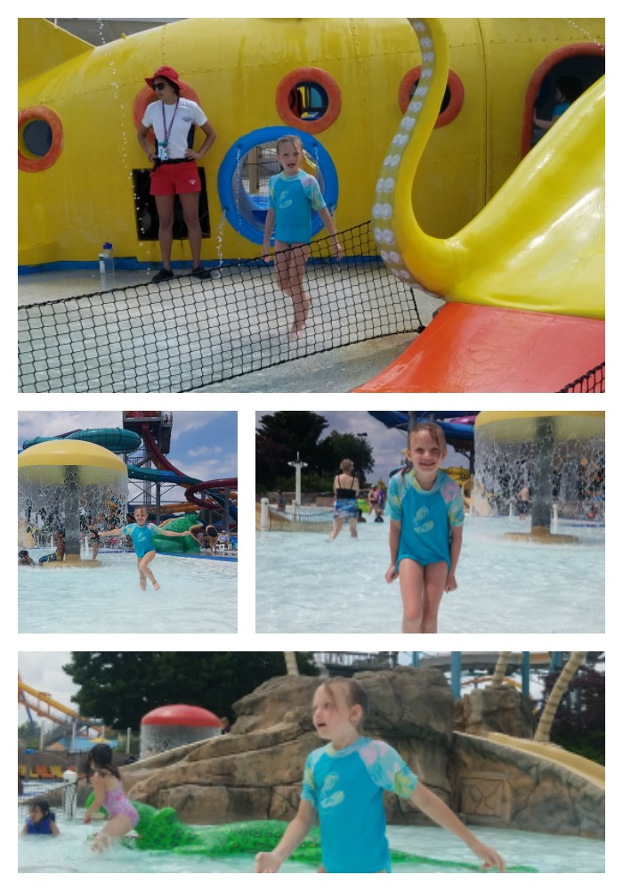 Willow playing in the Kids Cove at Wild Water Kingdom and Dorney Park