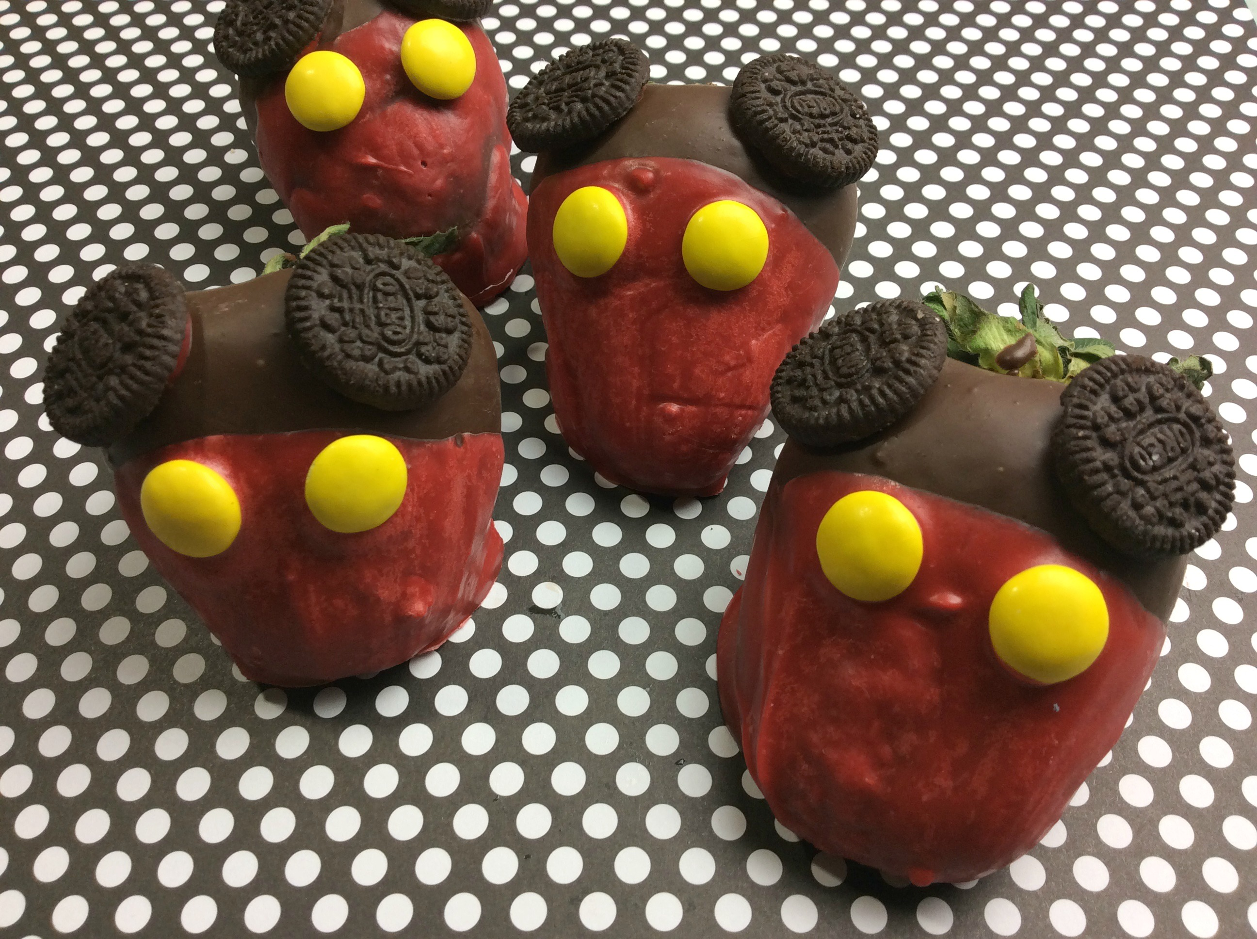 I think the only thing better than chocolate covered strawberries are Mickey Mouse chocolate covered strawberries. Easy to make and will leave your Disney fan smiling