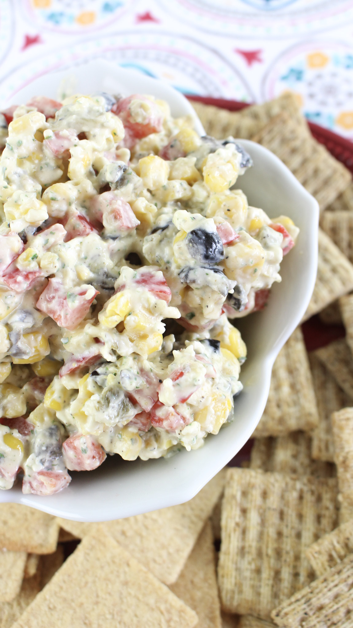 Need a recipe for your next get together Try Ranch Fiesta dip. Perfect for potlucks and it is a great picnic recipe