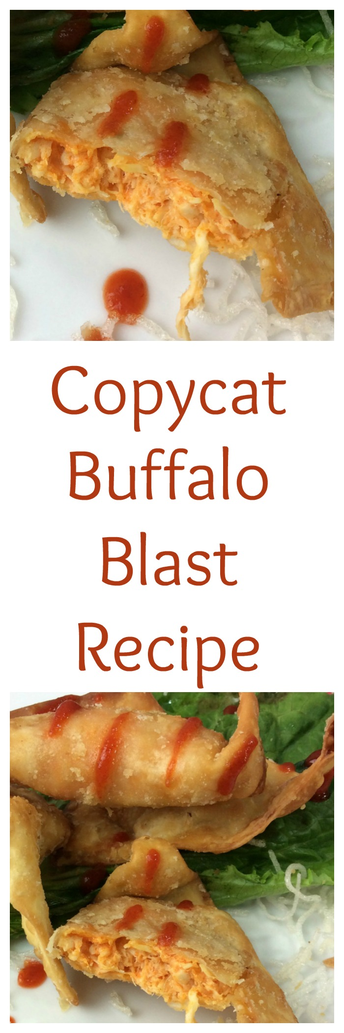The Cheesecake Factory Buffalo Blasts copycat recipe is filled with Chicken, Cheese and Spicy Buffalo Sauce in a fried wonton wrapper. It is fried to add the perfect amount of crunch.