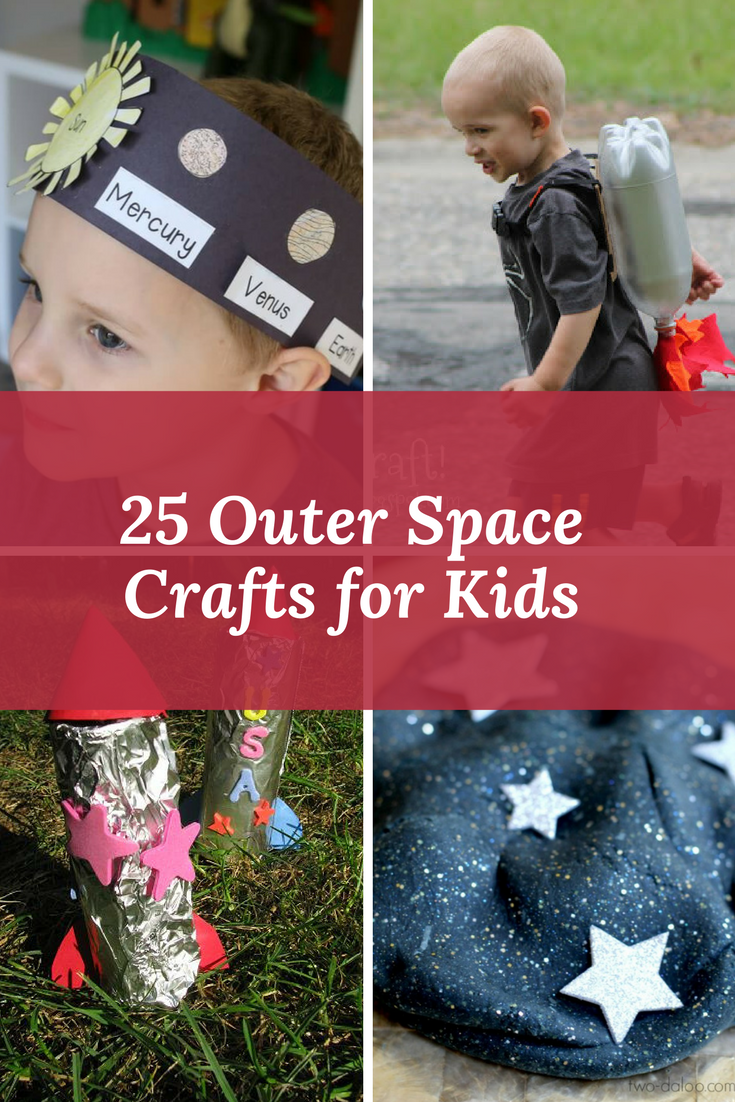 25 Outer Space Crafts for Kids. Do you have a budding astronomer, or are you trying to encourage more science interest in your child? These space crafts will get kids interested in space.