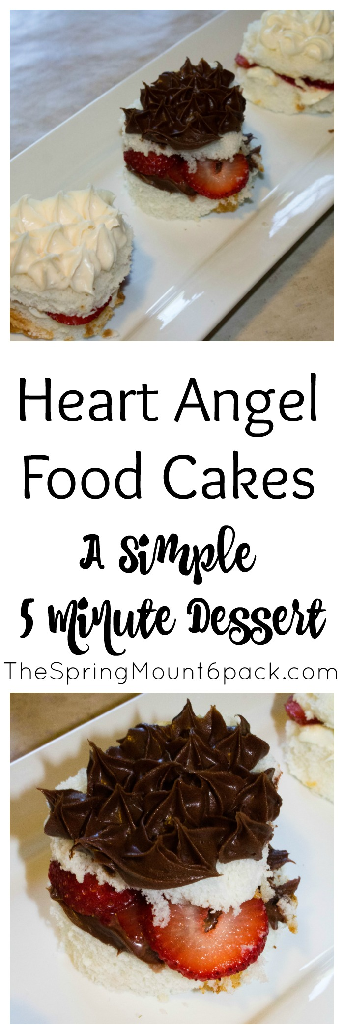 Heart Angel Food Cakes are a simple 5 minute dessert that only takes 3 ingredients. Perfect for week night dessert.