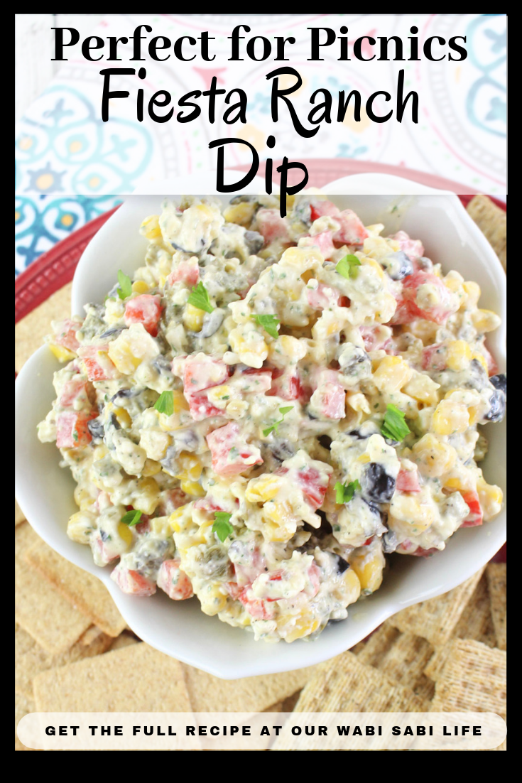 Looking for a fiesta ranch dip? This Ranch Fiesta Dip is a delicious recipe that is perfect for a potluck or get together. This Ranch Fiesta Dip recipe is perfect for any time. It is addictive and delicious and will be a hit.