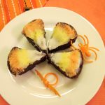 Candy Corn Brownie Bites