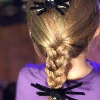Make a Simple Spider Hair Accessories