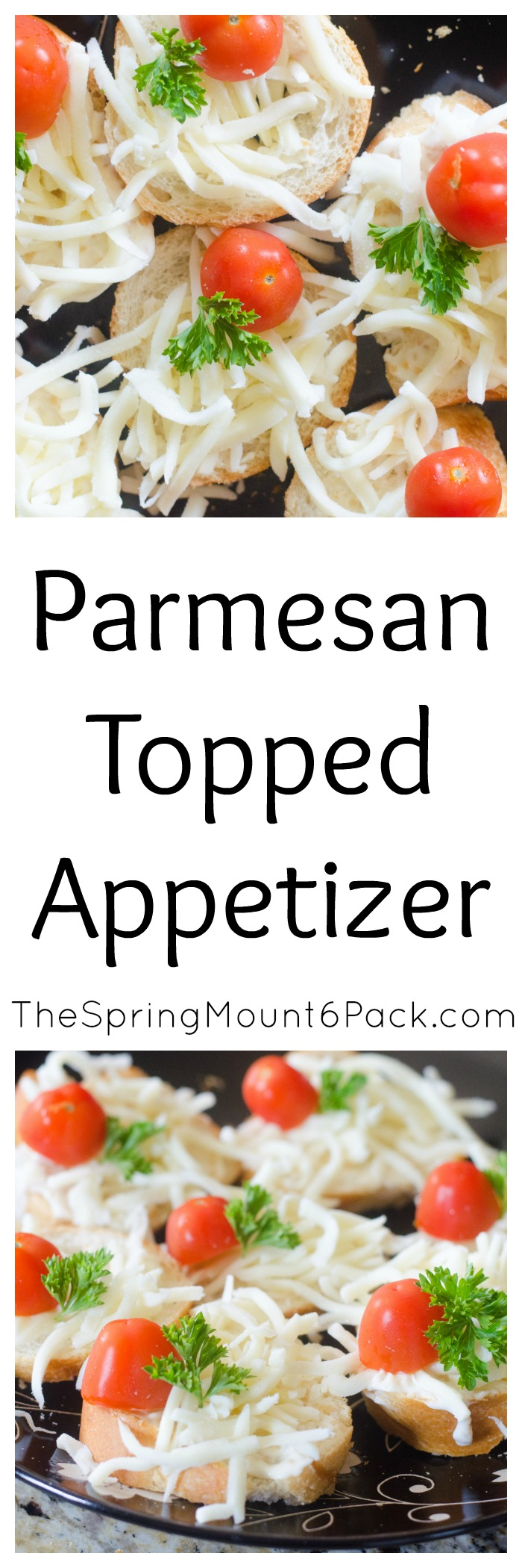 Need a simple appetizer for your next get together? This Parmesan topped appetizer is too good not to serve your friends and family.