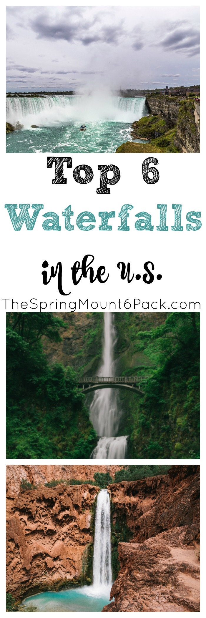There is something majestic about waterfalls. So where can you find the most beautiful waterfalls in the US? Check out the top 6 waterfalls in the US