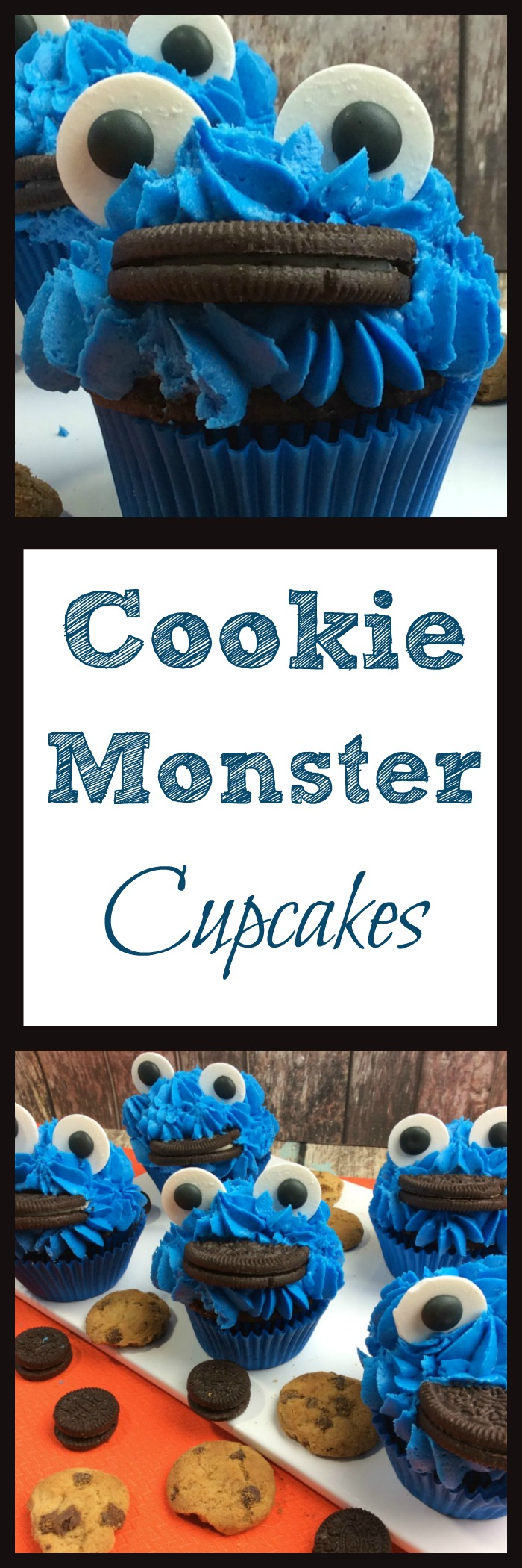 Have a Cookie Monster fan I bet they will love these Cookie Monster Cupcakes will be a hit and everyone will love how cute they are.