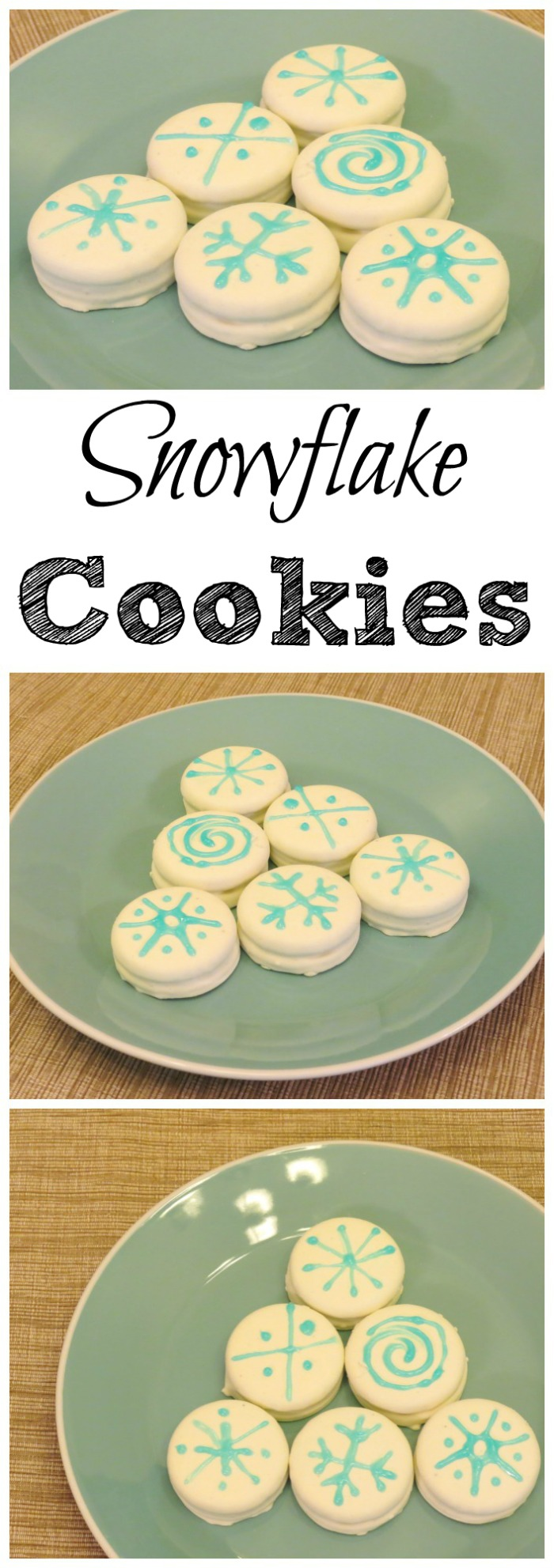Looking for a fun snow day activity to do with the kids? Kids will love making these snowflake cookies. Avoid snow day blues with a delicious distraction