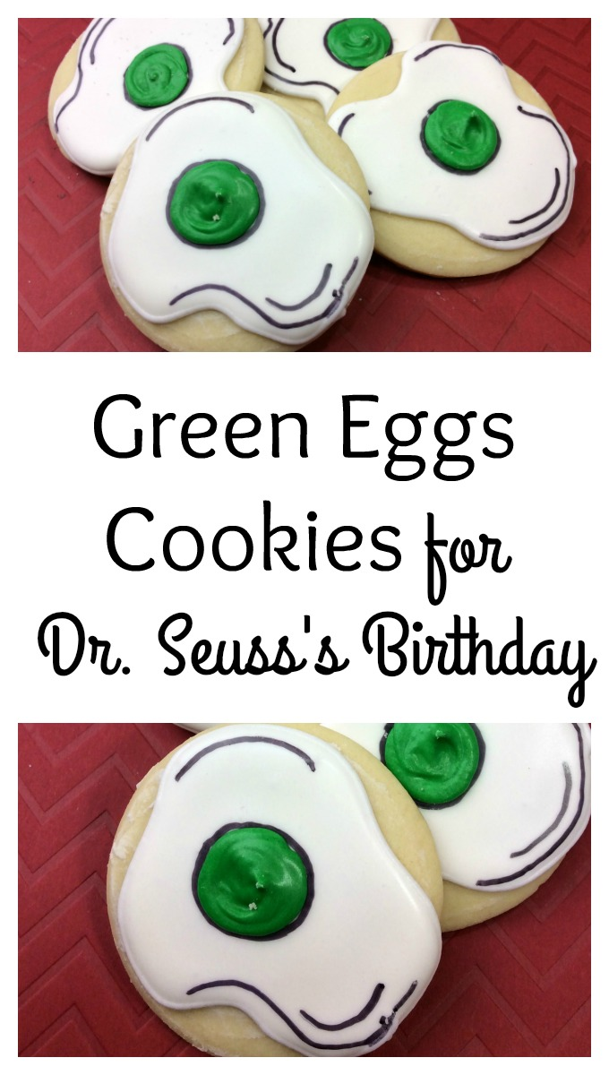 I do not like green eggs and ham.... But what if those green eggs were delicious cookies? These green eggs cookies are perfect for Dr. Seuss's birthday