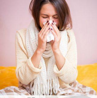 Sick mom has the flu