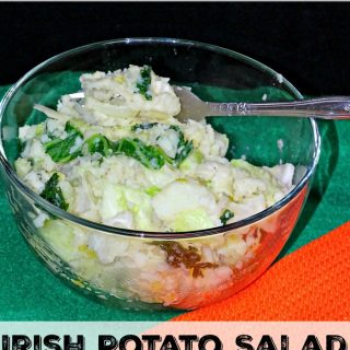 Colcannon is an Irish potato salad that is perfect for a St. Patrick's Day recipe or for a change up on your regular potato recipe.
