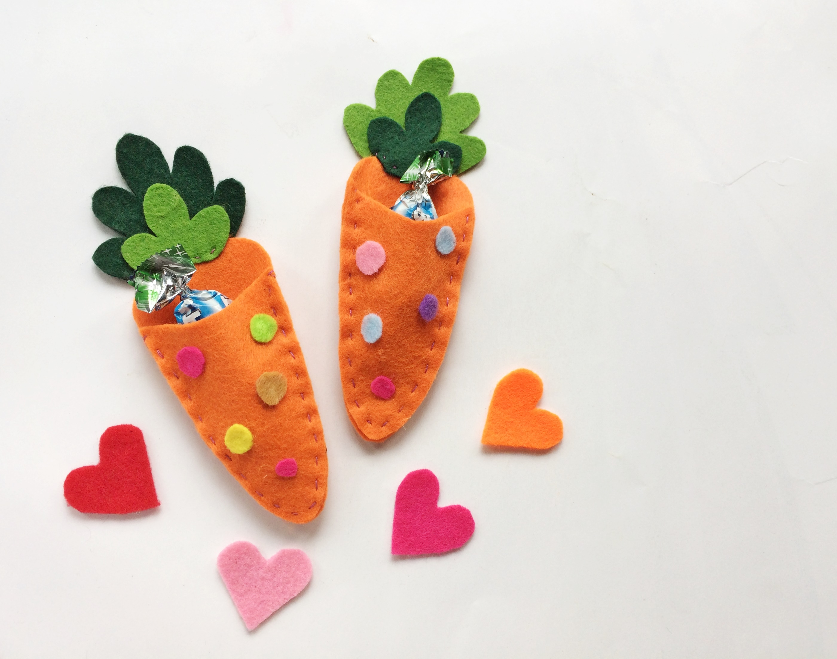 Carrot Treat Pouch Easter Felt Craft Our Wabisabi Life