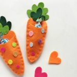 Carrot Treat Pouch | Easter Felt Craft