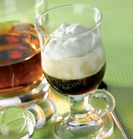 The Irish had the right idea when they combined robust Irish whiskey with hot, black coffee, to make this traditional Irish Coffee recipe.