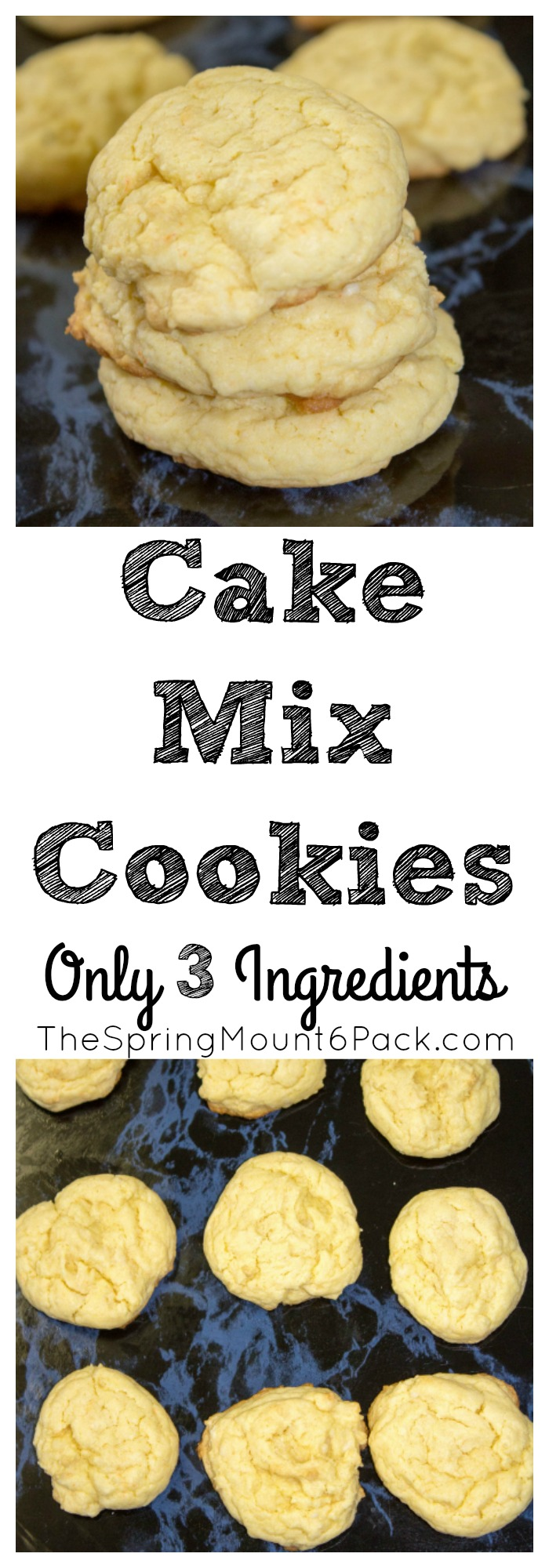 Cake mix cookies are a fast dessert that can be made easily with only 3 ingredients. Easy to make cookies that can be made in a lot of different flavors.