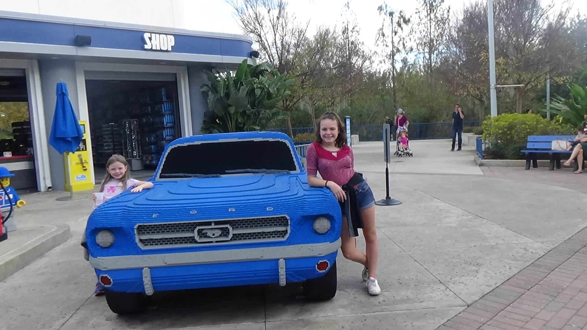 Outside of driving school at Legoland Florida