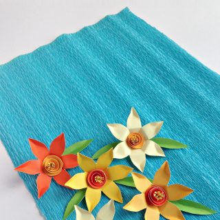 Paper Daffodil Craft | Paper Flowers