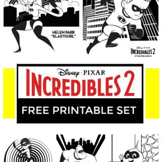 Incredibles 2 Coloring Pages and Printables