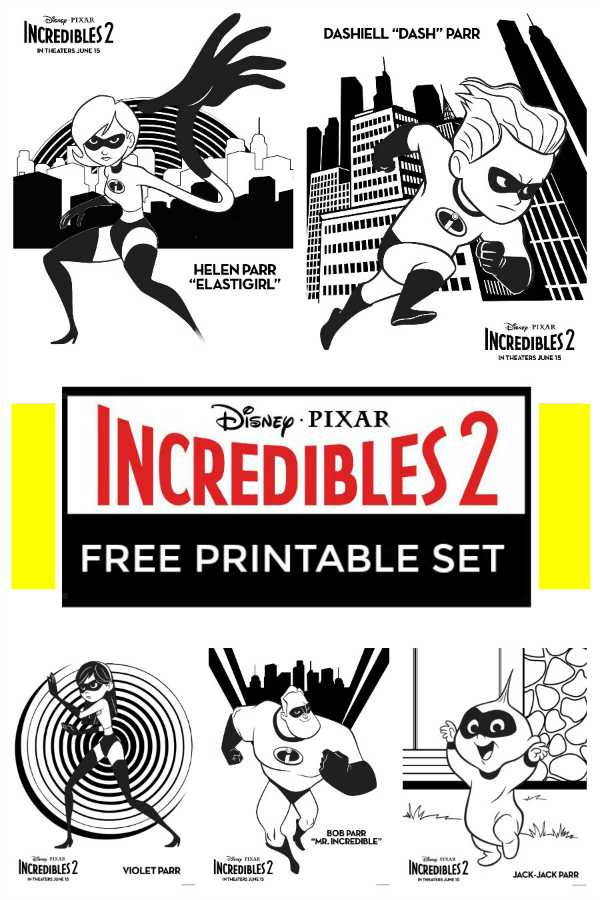 Are you excited for the Incredibles 2 movie coming out soon? Get in the mood with these free Incredibles coloring pages and printables.