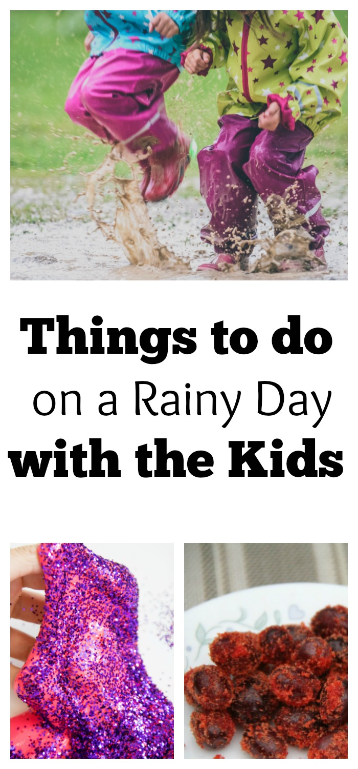 Are the kids going crazy on a rainy day? Bored Kids on a summer afternoon? Here are great ideas of things to do on a rainy day.