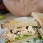 Looking for a great tasting, easy chicken salad recipe? This kicking spicy chicken salad recipe will be hit for lunch, dinner or a picnic.