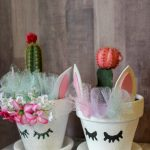 Love unicorns? Looking for a way to add more unicorns into your house? Create a Unicorn Planter to show off some of your beautiful cactus plants. This is a simple and fun flower pot craft.