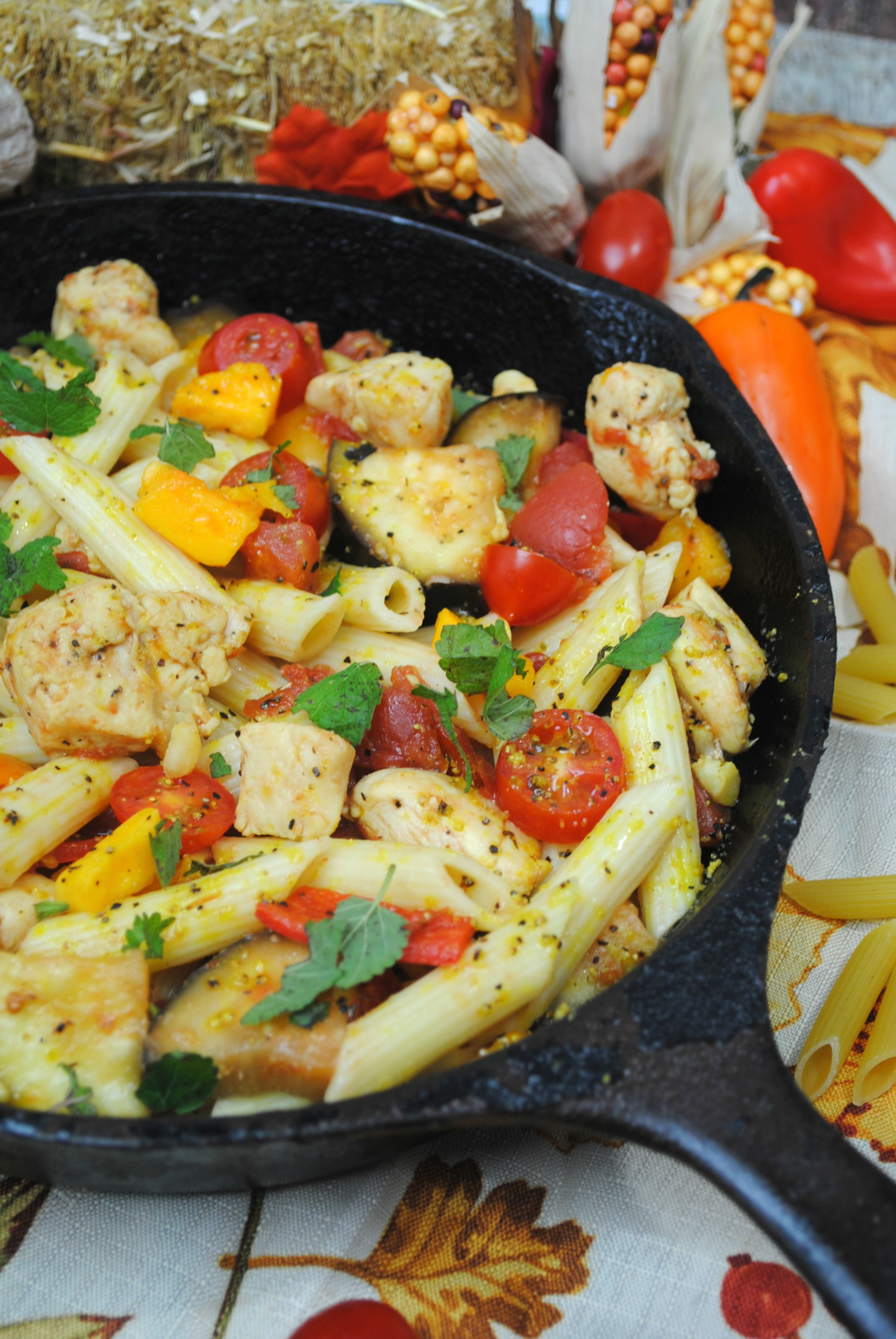 Looking for a simple skillet meal? Skillet meals are great for a quick one pan dinner. This Autumn Vegetables and Pasta Skillet Meal brings together all the flavors of fresh fall vegetables with the simplicity of skillet meals.