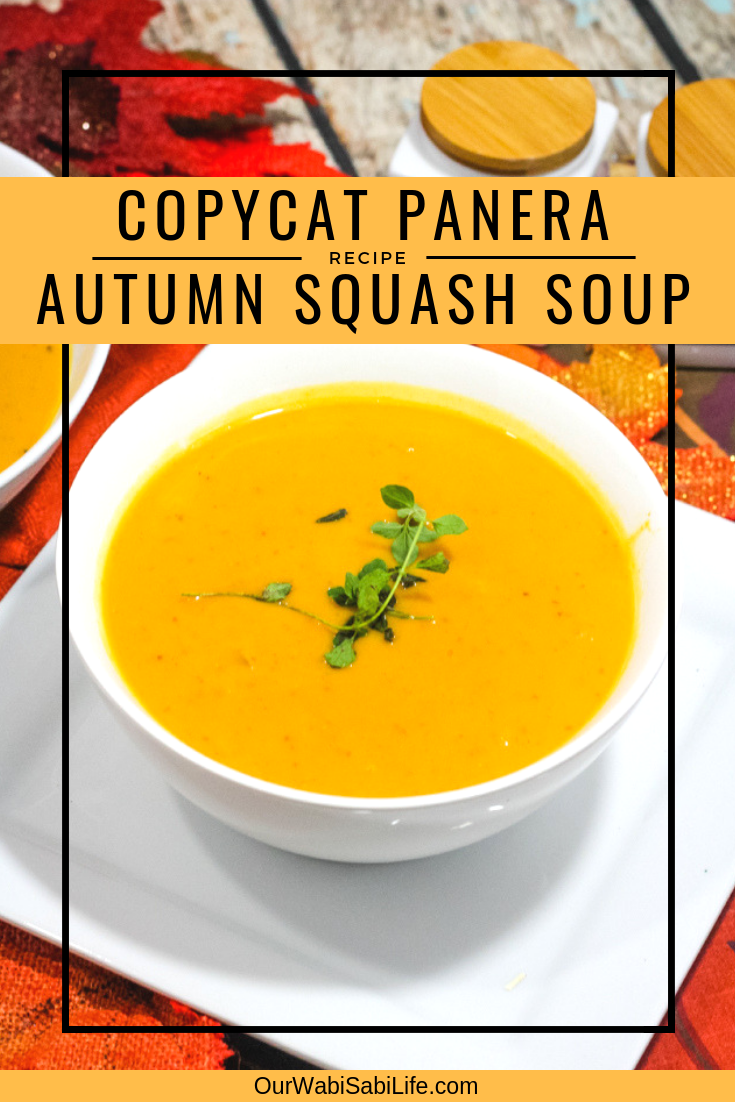 Love that great tasting soup from Panera, but want to make enough to feed your whole family? Try this copycat Panera autumn soup. This simple butternut squash soup is so good on a chilly night