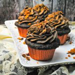 What to Do With Leftover Halloween Candy- Butterfinger Cupcakes are a way to use up Halloween candy or just add some delicious toppings.