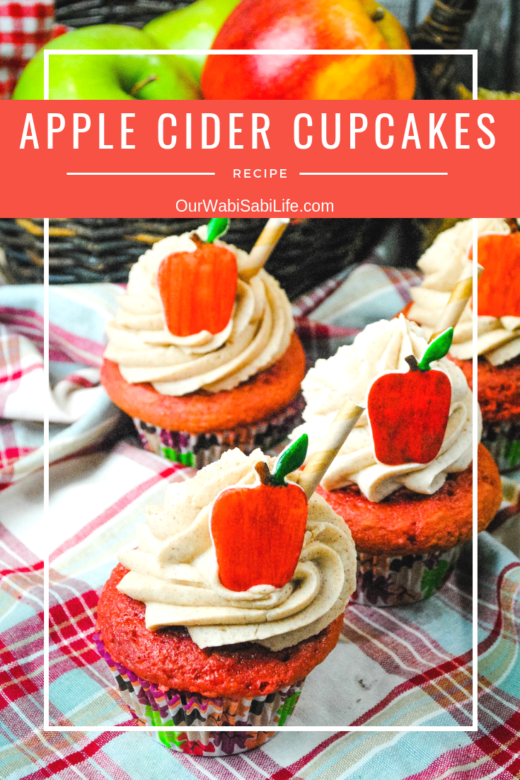Looking for a Fall cupcake? These apple cider cupcakes are moist, delicious and perfect for Fall. Get the apple cider cupcake recipe to make today. #cupcake #fall #recipe #applecider