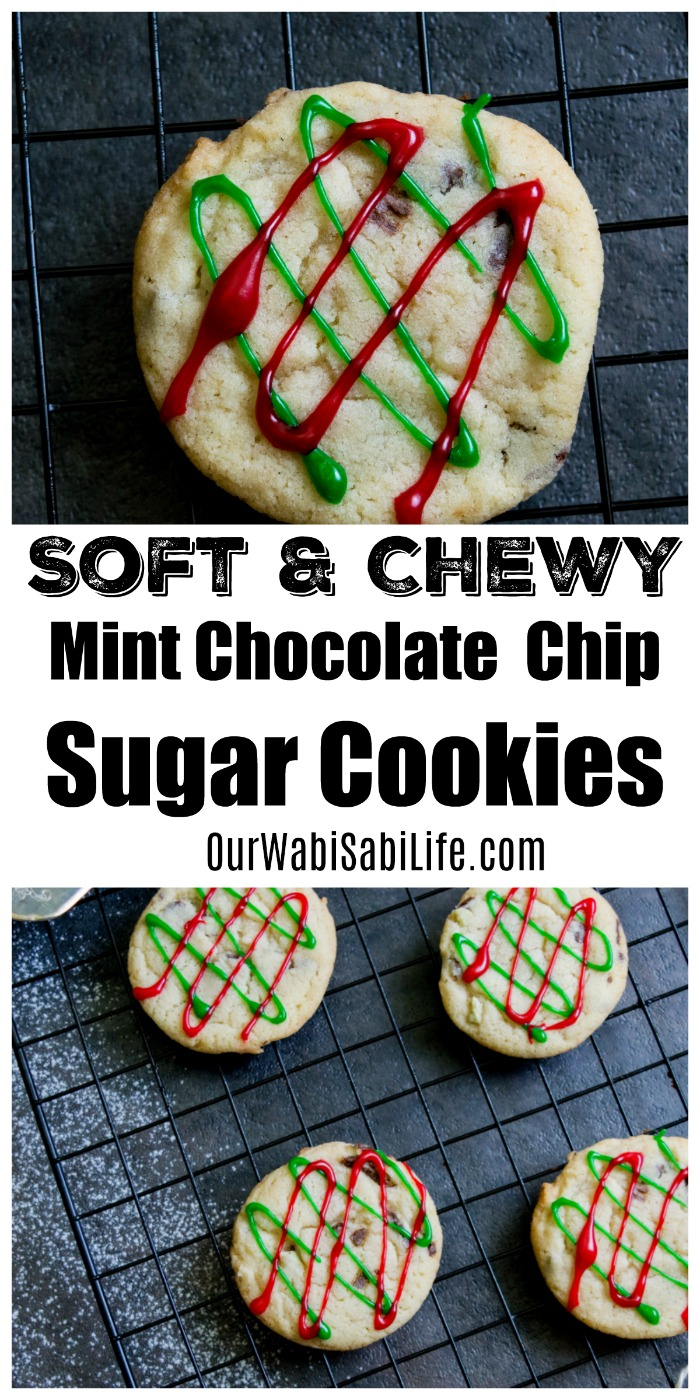 Looking for an amazing sugar cookie recipe? This mint sugar cookies recipe is out of this world. Perfect Christmas cookies, chocolate mint sugar cookies taste fantastic. These mint sugar cookies have Andes candies in the mix.  #cookies #Christmas #Mint #Chocolate