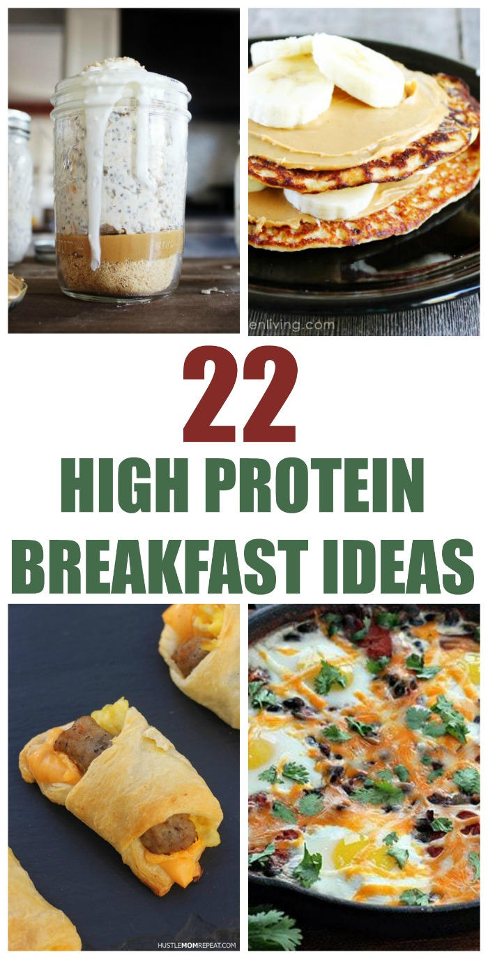 Start the day out right, with a healthy high protein breakfast that will keep your sugar in check, boost your metabolism, and help you feel great! Enjoy these 22 high protein breakfast recipes.
