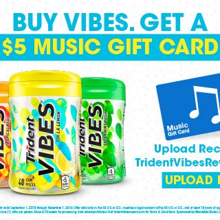 Buy Vibes! Get a $5 Music Gift Card