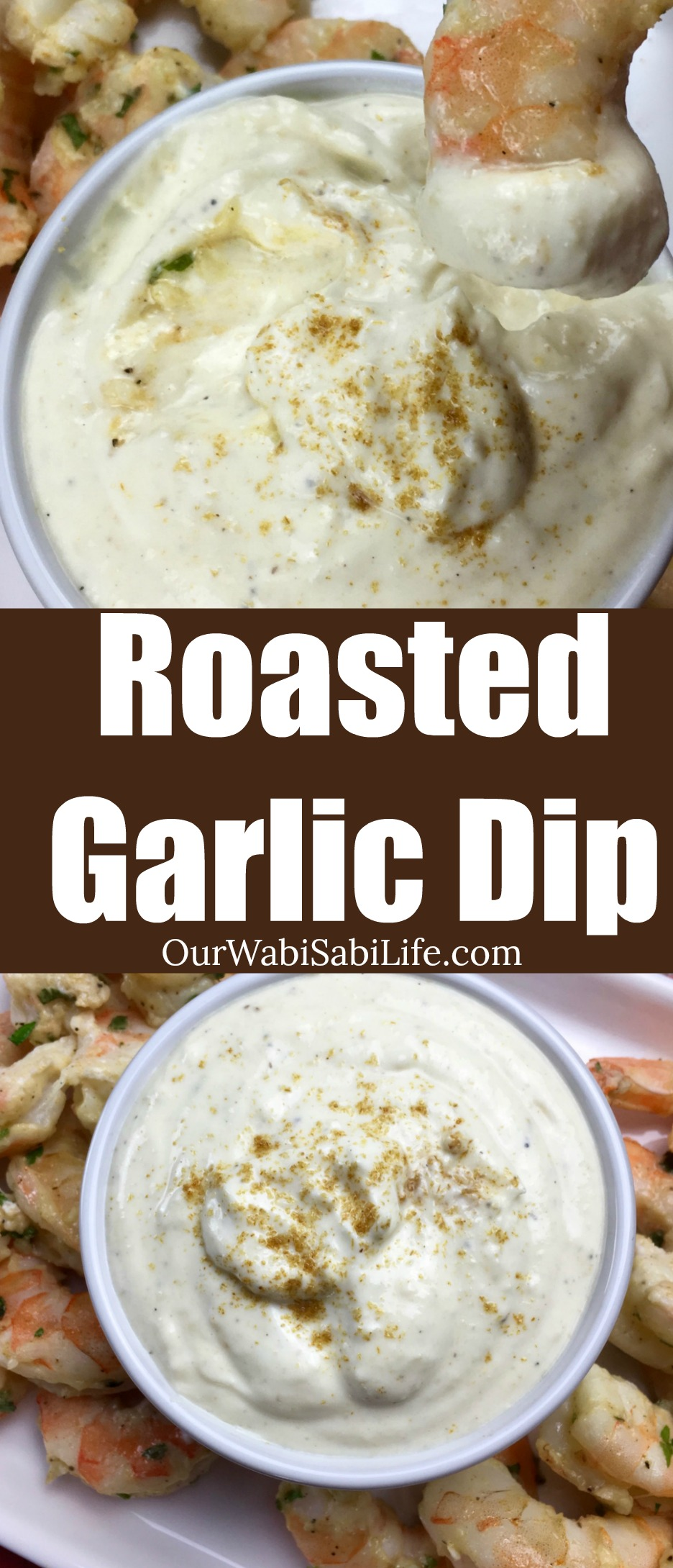 Looking for a savory dip? This roasted garlic dip is great with vegetables, on a sandwich or with shrimp. Make a batch before everyone comes over to watch the big game or for a picnic.